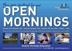 School open mornings